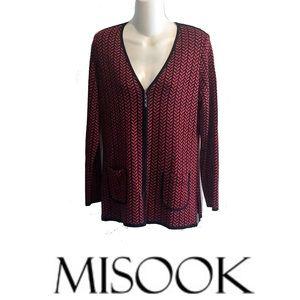 Misook Evening Holiday Jacket Blazer Cardigan
